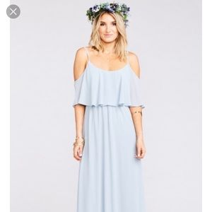 Show Me Your Mumu Caitlin Dress in Steele Blue